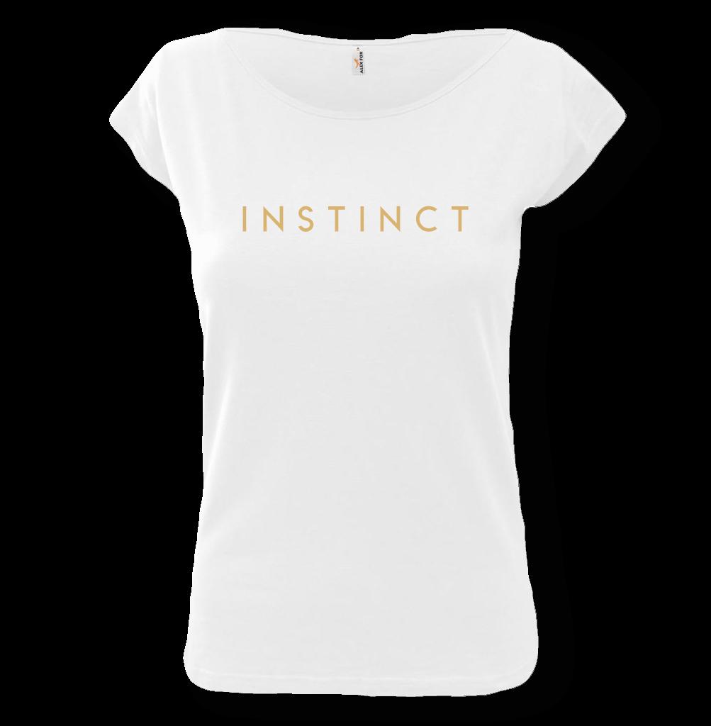 293275085a047 Dámske tričko biele s nápisom Instinct